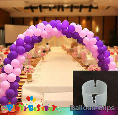 10X Balloon Clips Round Shaped Tie Filled Helium Air Balloons Wedding Party