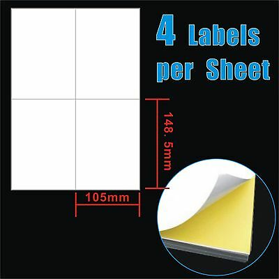 10.5x14.8cm 4 Labels Per Page Quality A4 Shipping Label Laser Inkjet