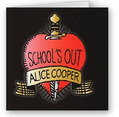Alice Cooper Schools Out Greeting Birthday Card Any Occasion Album Fan Official