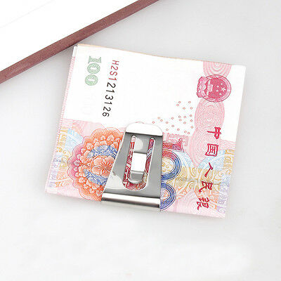 Slim Money Wallet Clip Clamp Card Stainless Steel Credit Business Card Holder