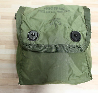 US Army First Aid Medical Instrument Pouch First Aid Kit Individual Alice green