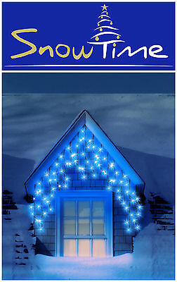 Snowtime Outdoor 180 ELECTRIC BLUE LED Multi Function Christmas Icicle Lights