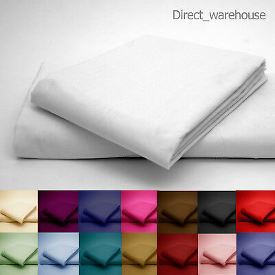 Fitted Sheet Bed Percale - Single, Double, King, Superking Or Pillowcase Pair