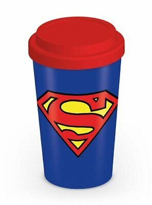 Superman - Ceramic Travel Coffee Mug / Cup (Classic Logo)