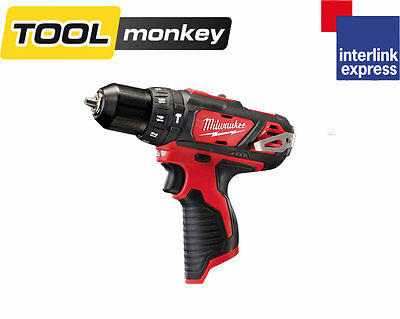 Milwaukee M12BPD-0 12v 2 Speed Compact Percussion Combi Hammer Drill Bare Unit