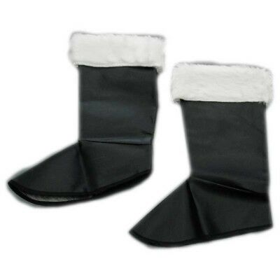 Christmas Fancy Dress Santa Claus Boot Covers Xmas Accessory Father Christmas Pa