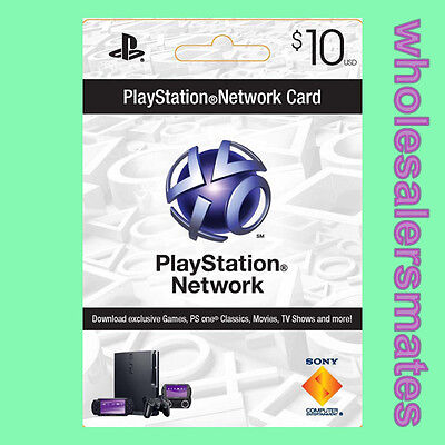 Playstation 3 PSN Network Card $10 US Store 10 USD für PS3 PS4 PSP Per Email
