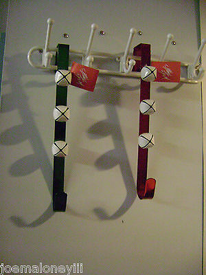 Lord & Taylor Over The Door Jingle Bell Wreath Holder Set 2