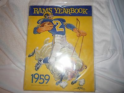 La Rams 1959 Yearbook Autographed By 17 Players And Coaches.