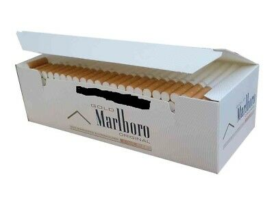 1 Box Empty Cigarette  Marlboro Gold King size cigarette tubes 200pcs