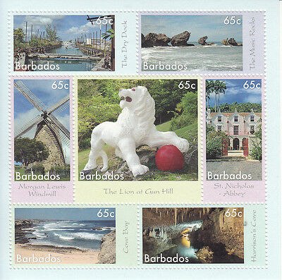 Barbados 2014 MNH Wonders of Barbados 7v M/S Morgan Lewis Windmills Stamps