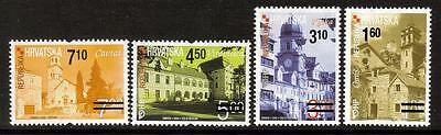 Croatia 2010 Mnh Surcharges On Towns