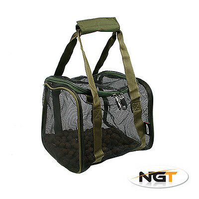 NEW NGT Square Rubberised Medium Air Dry Boilie Bag HookBait Pouch Carp Fishing