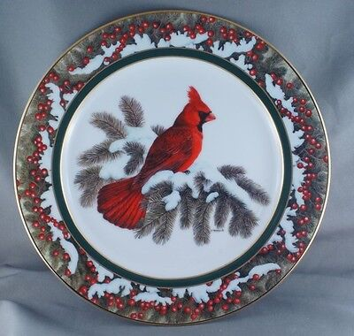 Christine Marshall Elegance in Red - Cardinal Collector Plate Limited to 2500 pl
