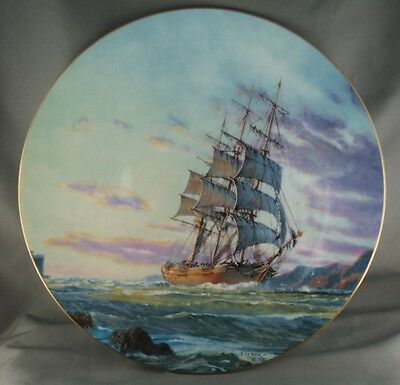 John Stobart Journey's End Royal Doulton Ship Collector Plate Limited to 15000