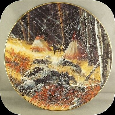 Julie Kramer Cole He Who Watches Collector Plate Touching the Spirit