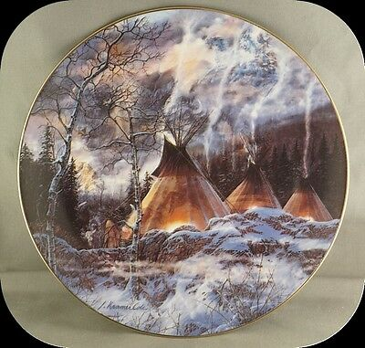 Julie Kramer Cole Wakun Tanka Collector Plate Touching the Spirit