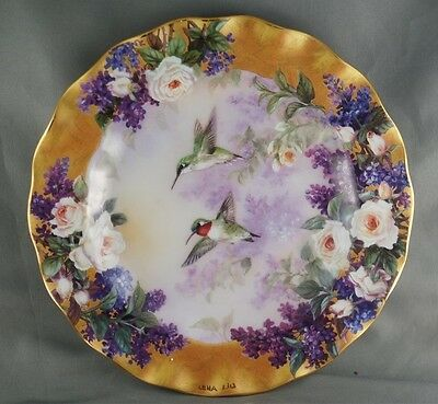 Lena Liu Crown Jewels Collector Plate Delicate Treasures Hummingbird