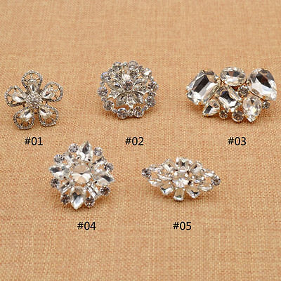 Crystal Shoe Buckle Clips Rhinestone Shoe Flower Wedding Shoe Ornament Fashion