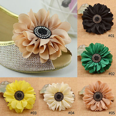 1pc Fashion Flower Shoes Ornament Shoe Buckle Clip Remoavle for Wedding Bradial