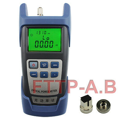 New Handle Fiber Optic Optical Power Meter -70~+10dBm SC / FC Alkaline Battery