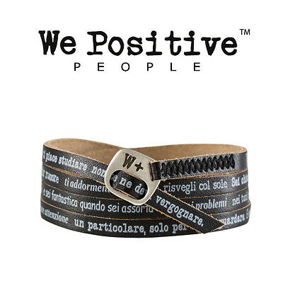 We Positive Albachiara Bracciale Nero Vasco Rossi My401