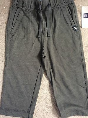 DARK GREY JOGGERS WITH FRONT DRAWSTRINGS - FROM GAP- AGE 18-24m - BNWT