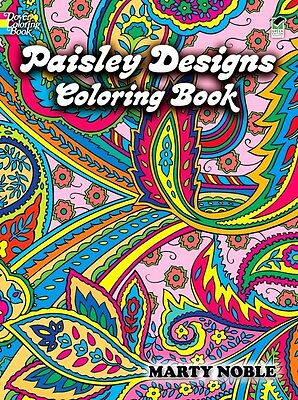 Paisley Designs Coloring Book Art Relaxation Children Adults Stress Relieving