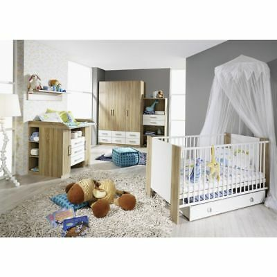 babyzimmer kinderzimmer echtholz 4 teilig top eur 200 00 picclick de. Black Bedroom Furniture Sets. Home Design Ideas