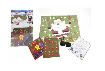 Snow White Novelty Christmas Game Pin The Nose On Santa Poster 24 Noses!