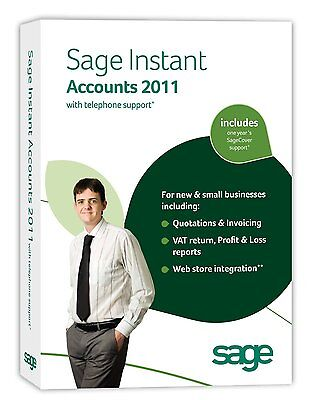 SAGE Business Instant Accounts 2011 with Telephone SageCover Support (PC) VAT