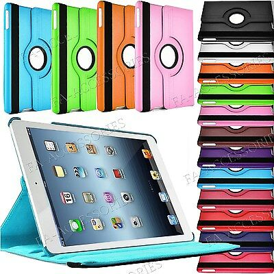 Leather 360 Rotating Stand Cover Case  For iPad pro 9.7' 6/5/4/3 Samsung Tablets