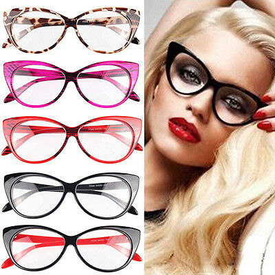 Women Fashion Enticing Sexy Cat-Eye Shape Eye Glasses Plain Eyeful Frame Eyewear