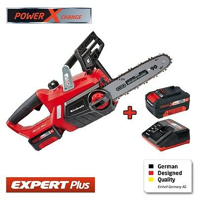 """Heavy Duty Einhell 18V Lithium Cordless 12"""" Chainsaw Saw & 2 Batteries Charger"""
