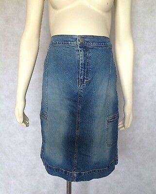 [266] Mothercare Maternity Blue Denim Skirt Size 12 Fits Part Over Your Bump