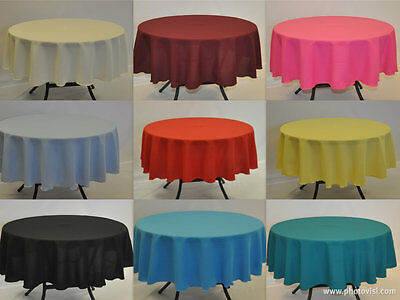 Plain Fabric Tablecloth / Linen 20 Colours 11 sizes 100% Polyester