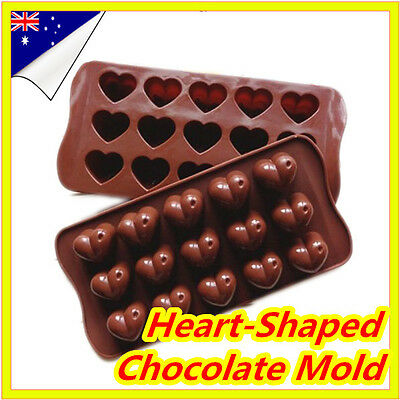 Heart Love Ice Cube Tray Silicone Mold Candy Chocolate Cake Jelly Moulds Freeze