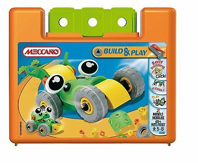 Meccano BUILD & PLAY 2 Model Set in Case - SET B - 40+ Pieces - NEW