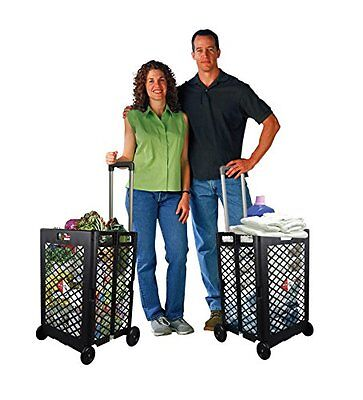 Shopping Cart Basket Storage Rolling Portable Folding Wheel Utility Grocery NEW