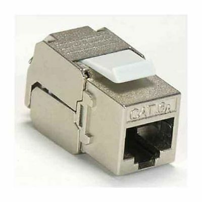 Snap In Cat6a Shielded FTP UTP Punch Down Keystone Jack 23 - 26 AWG IDC 10G