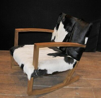 Modernist Funky Rocking Chair Animal Print Armchairs