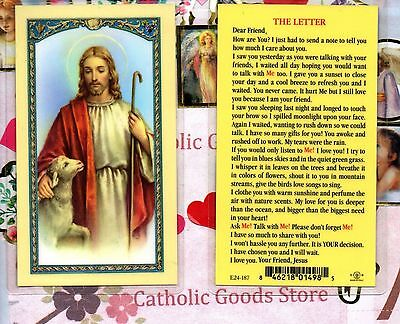 The Letter - Laminated Holy Card