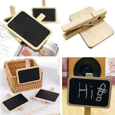 10 X Mini Blackboard Chalkboard Office Home Message Labels Holder Clip Economic