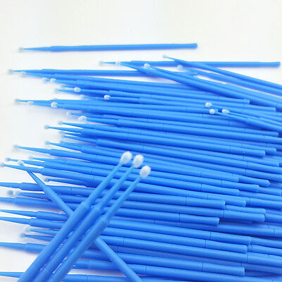 800 PCS Dental Disposable Micro Applicator Brush Bendable 2.5mm Blue Regular