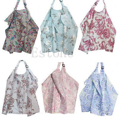 Baby Mum Breastfeeding Nursing Poncho Cover Up Cotton Blanket Shawl