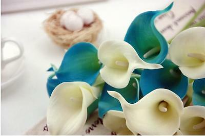 Latex Real Touch Calla Lily Flower Bouquets Bridal Wedding Home Decor