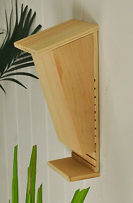 Wooden Bat Box with Landing Perch by Selections