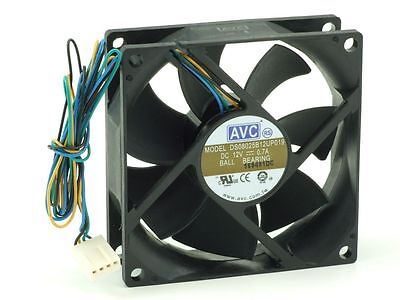 AVC DS08025B12UP019 Ball Bearing Heat-Sink/Case Ventilator Fan Lüfter 80mm 4-Pin