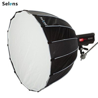 "Selens 41.3/"" Parabolic Beauty Dish Softbox /& Bowens speed ring for Strobe Flash"