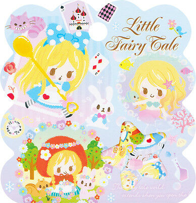 Q-lia Little Fairy Tale Sack o' Stickers (Alice in Wonderland, Red Riding Hood)